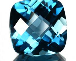 Natural London Blue Topaz Cushion Checker Board 3.99 Cts