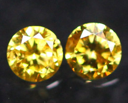 2.30mm Untreated VS Round Brilliant Cut Fancy Vivid Color Diamond A2301