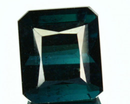 Unheated Natural Bluish Green Tourmaline Octagon Africa 4.51 Cts