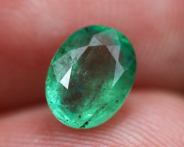 Emerald 1.11Ct Natural Vivid Green Zambian Emerald E2305