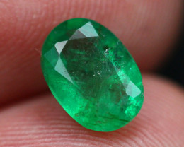Emerald 1.24Ct Natural Vivid Green Zambian Emerald E2307