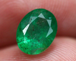Emerald 1.39Ct Natural Vivid Green Zambian Emerald E2311