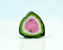 7.05 cts Watermelon Tourmaline Slice