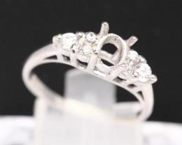 Semi Mount 5.5x4.5mm 18K Fine Jewelry White Gold G/VS Diamond Ring V91