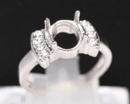 Semi Mount 8x6mm 18K Fine Jewelry White Gold G/VS Diamond Ring V92