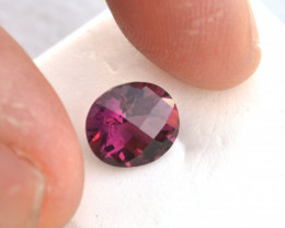 2.90 Carat Very Fine Oval Checkerboard Cut Rubellite Tourmaline