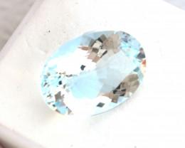 10.12 Carat Very Fine Certified Oval Cut Aquamarine