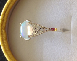 Solitaire Opal Ring 1.00ct.