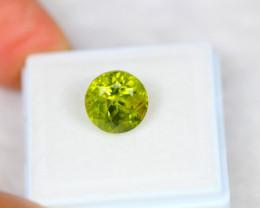 4.36ct Green Peridot Round Cut Lot GW3416