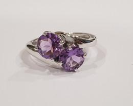 Amethyst 925 Sterling silver ring #278