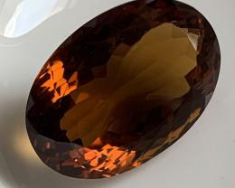 ⭐20.50ct Cognac Quartz VVS Gem - No reserve ~