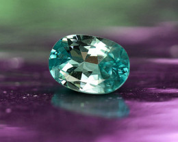 2.665 ct UNTREATED BLUE ZIRCON - VVS!