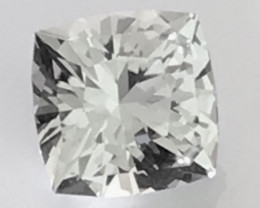 Designer Cut 7.15ct Sparkling Silvery - Colorless Unheated Topaz - Nigeria