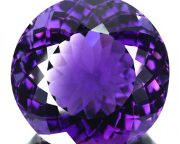 Beautiful Round 10.66 Cts Natural Purple Amethyst Bolivian Gem