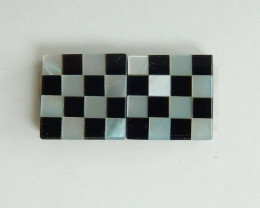 7.5cts Fashion Natural Mixed Gemstone Cabochon Pairs ,Square Gemstone B821