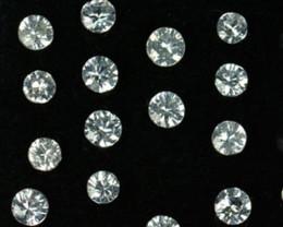 1.04Cts Natural White Sapphire Round Parcel Srilanka