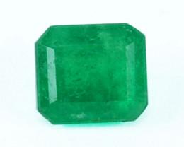 Natural Vivid Green Emerald Octagon Cut Colombia 0.43 Cts