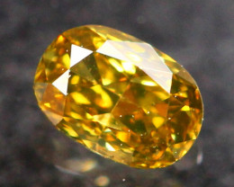 0.11Ct Untreated Fancy Deep Yellowish Brown Color Diamond A2403