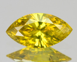 Natural Golden Yellow Diamond Marquise Cut Africa 0.12 Cts