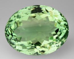 Mint Green Natural Green Prasiolite Oval 35.27Ct