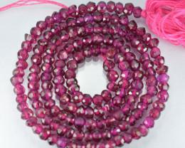 Lovely Purple Pink Natural Rhodolite Garnet Rondelle Faceted Beads 26.24Ct