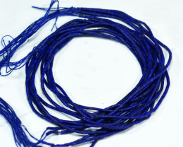 Lovely Blue Natural Afghanistan Lapiz Lazuly  Tube Beads 20.63Ct( 5 Strings