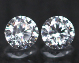 2.00mm D/E/F VVS Clarity Natural Brilliant Round Diamond Pairs