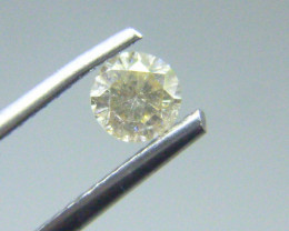 0.39cts  Faint Yellow Diamond, 100% Natural Untreated