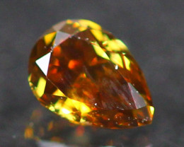 0.14Ct Untreated Fancy Vivid Yellowish Brown Color Diamond E2401