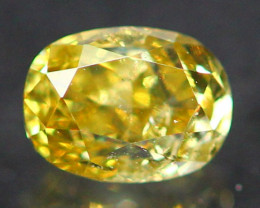 0.27Ct Untreated Fancy Intense Greenish Yellow Color Diamond E2402