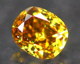 0.14Ct Untreated Fancy Deep Champagne Orange Color Diamond E2403