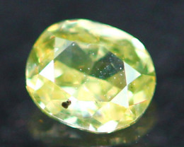 0.17Ct Untreated Fancy Intense Yellowish Green Color Diamond E2404