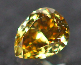 0.13Ct Untreated Fancy Deep Brownish Orange Color Diamond E2405
