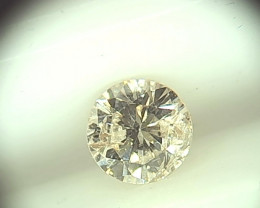 0.48cts  K-I1 Diamond  , 100% Natural Untreated