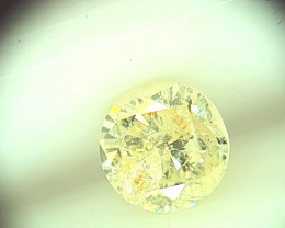 0.72cts  Fancy Yellow Diamond , 100% Natural Untreated