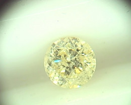 0.45cts  Fancy Light Yellow Diamond  , 100% Natural Untreated