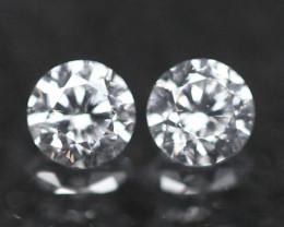 1.80mm D/E/F VVS Natural Round Brilliant Cut Diamond Pair