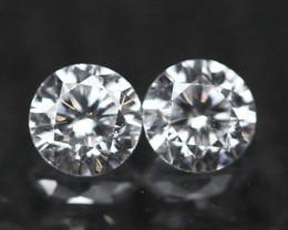 2.00mm D/E/F VVS Natural Round Brilliant Cut Diamond Pair