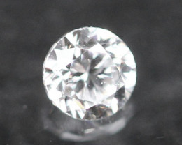 2.50mm D/E/F VVS Natural Round Brilliant Cut Diamond