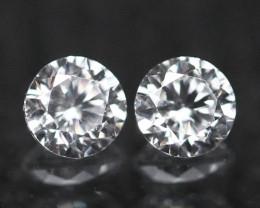 1.90mm D/E/F VVS Natural Round Brilliant Cut Diamond Pair