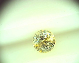 0.51cts  Fancy Yellow Diamond, 100% Natural Untreated