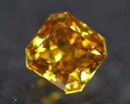 0.13Ct Untreated Fancy Deep Yellowish Orange Color Diamond A2602
