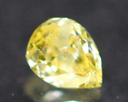 0.10Ct Untreated Fancy Intense Green Olive Color Diamond A2603