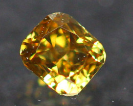0.11Ct Untreated Fancy Greenish Yellow Brown Color Diamond A2604