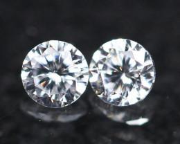 2.10mm D/E/F VVS Clarity Natural Brilliant Round Diamond Pair