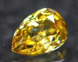 0.12Ct Untreated Fancy Intense Dark Olive Color Diamond E2604