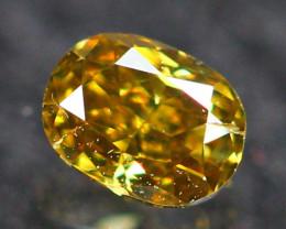 0.11Ct Untreated Fancy Vivid Greenish Brown Color Diamond E2605