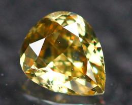 0.12Ct Untreated Fancy Intense Greenish Brown Color Diamond E2606