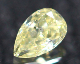 0.11Ct Untreated Fancy Intense Green Olive Color Diamond E2611