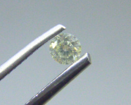 0.135cts  Light Green Diamond , 100% Natural Untreated